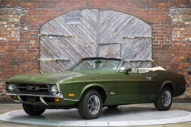 1972 Ford Mustang Convertible 4-Speed Manual Ivy Glow Green