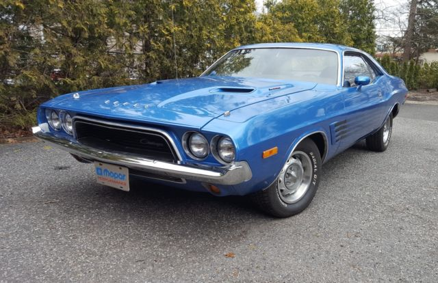 73 Dodge Challenger Rally 340 4 Speed Pistol Grip B5 Blue Fresh Bare