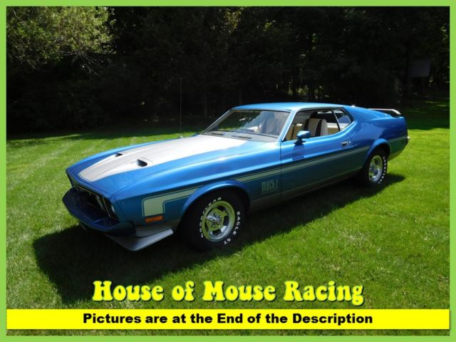 1973 Ford Mustang 89k # Match Q Code 351 4Spd Frame Off