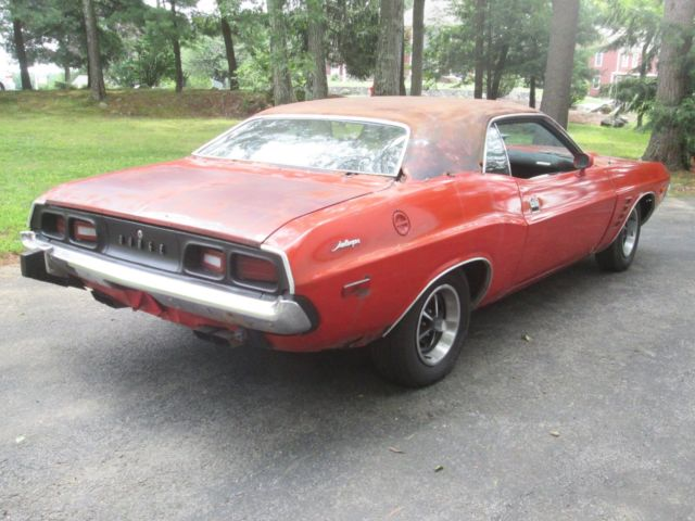 1974 Red Dodge Challenger Coupe with Black interior
