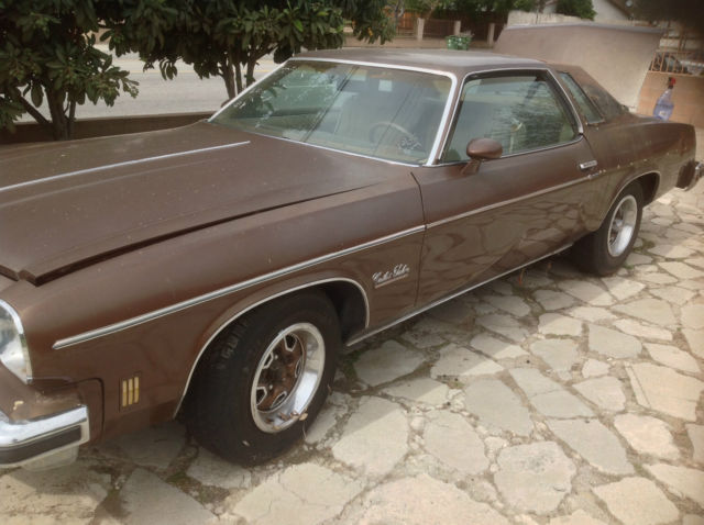 74 oldsmobile cutlass salon brown beige only 2 owners for for 74 cutlass salon