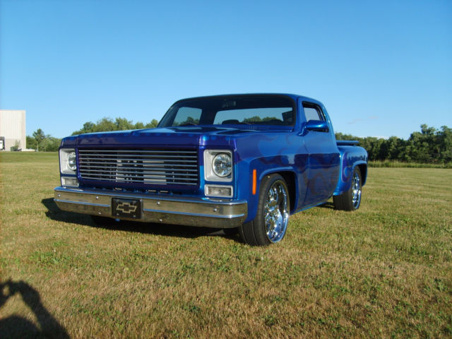 Chevy C10 Pickup For Sale 78 Chevy C10 Silverado Stepside Chop Top Custom for sale: photos ...