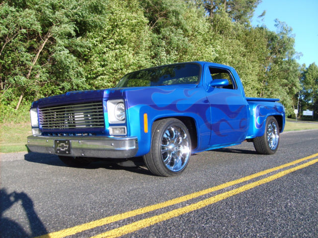 78 chevy c10 silverado stepside chop top custom for sale photos technical specifications. Black Bedroom Furniture Sets. Home Design Ideas