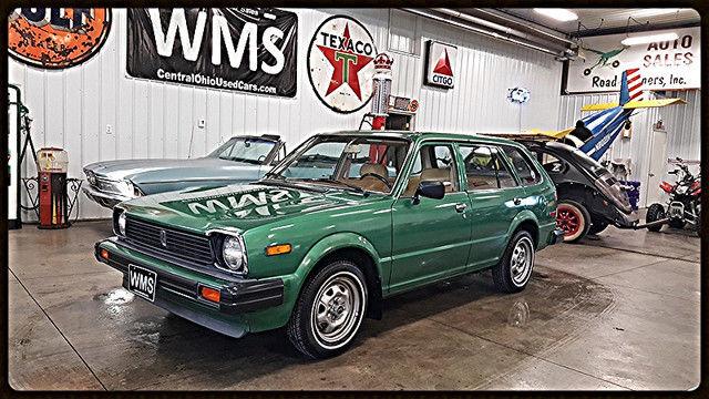 80 Green Wagon Honda Vintage Classic Car Show Chrome 4 Cyl Auto 2 ...
