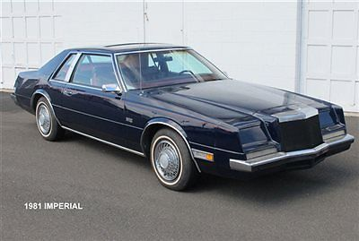 1981 Chrysler Imperial 2 Door