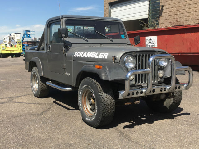 1981 Jeep CJ CJ8 Scrambler Half Cab Hard Top Truck Bed