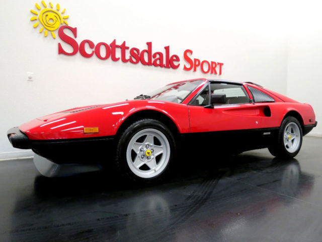 1985 Ferrari 308 -32K MILES, ROSSO CORSA/NERO w RED PIPING, FRESH S