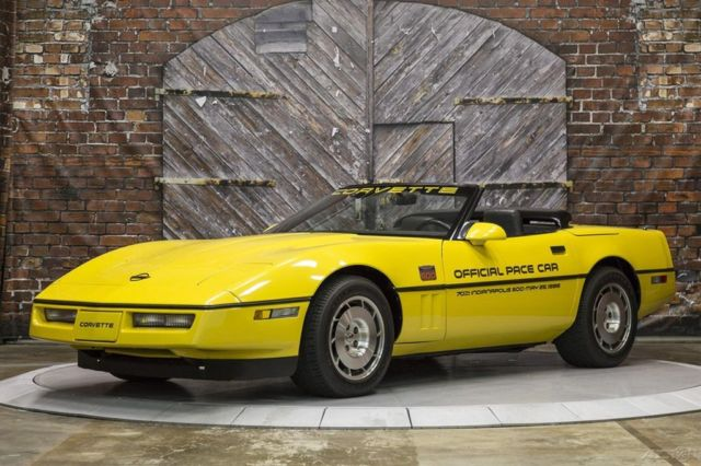 1986 Chevrolet Corvette Actual Pace Car from the Indianapolis 500 Race