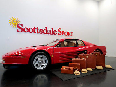1986 Ferrari Testarossa ONLY 4,737 MILES, LUGGAGE, MAJOR SERVICE w CLUTCH,