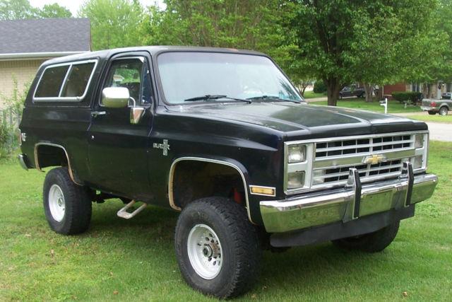 87 Chevy K5 Silverado Blazer Chevrolet 1987 Truck Suv 4 Wheel Drive 4wd Four Gm