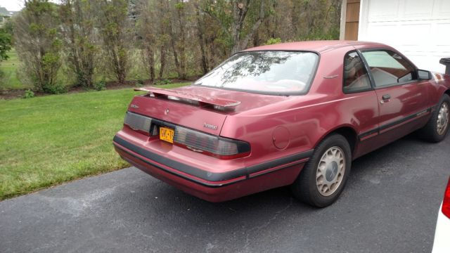 87 ford thunderbird 2 3liter turbo coupe canyon red for sale photos technical specifications. Black Bedroom Furniture Sets. Home Design Ideas