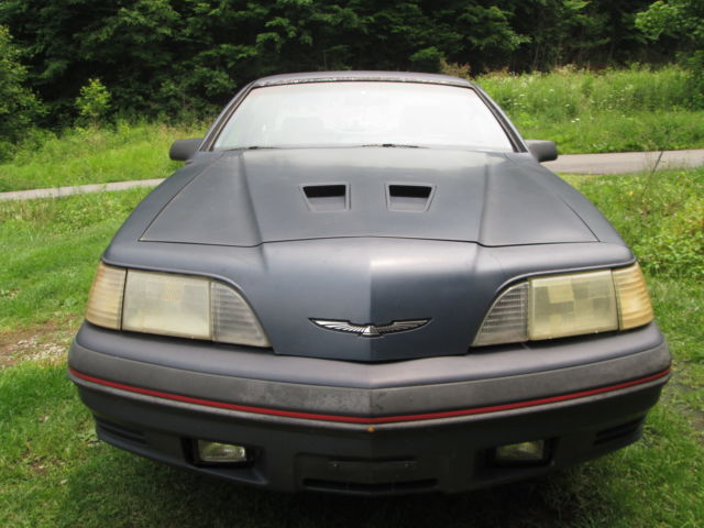 87 ford thunderbird turbo coupe motortrend car of the year rare 5 speed for sale photos. Black Bedroom Furniture Sets. Home Design Ideas
