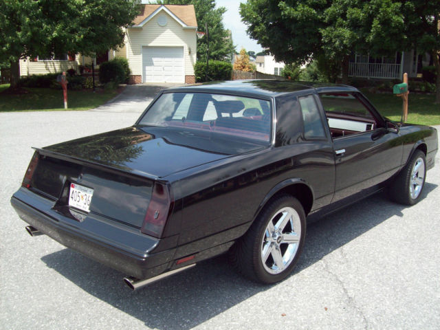 87 monte carlo ss resto custom for sale photos technical specifications description. Black Bedroom Furniture Sets. Home Design Ideas