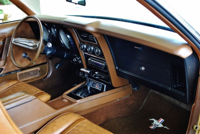 1973 Gold Ford Mustang with Saddle Tan interior