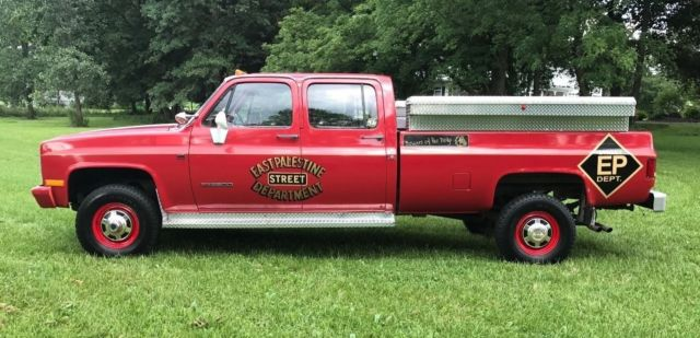 89 gmc long bed 4wd 454 1 ton lowered price rare pickup for sale