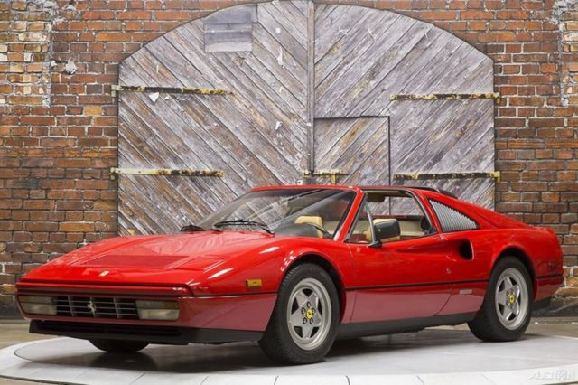 1989 Ferrari 328 GTS Rosso Corsa Red Tan Leather 19k miles