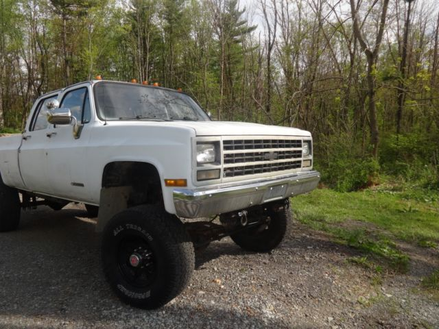 91 Chevy 1 Ton 3 3 Crew Cab True 4x4 Truck Old Body Style For Sale