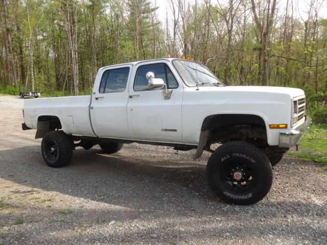 91 chevy 1 ton 3 3 crew cab true 4x4 truck old body style for sale photos technical. Black Bedroom Furniture Sets. Home Design Ideas