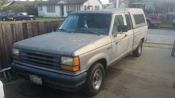 1991 Gray Ford Ranger Extended Cab Pickup with Gray interior