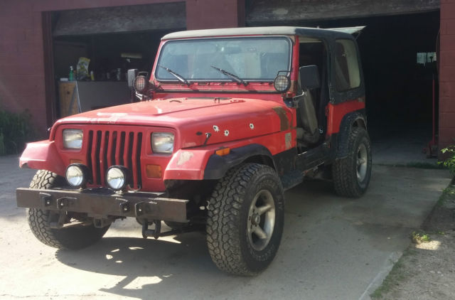 91 jeep wrangler yj 5 speed manual 4 cyl project Hard Top Full ...
