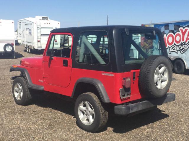 91 Jeep Wrangler Yj Se Sport Red No Rust Hard Top Doors 4x4 100