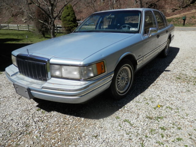 91 lincoln continental signiture series for sale: photos, technical