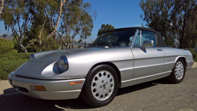 Spider Veloce Excellent CA Car Service DocumentationLow Miles - 1991 alfa romeo spider veloce for sale