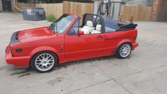 92 Vw Cabriolet Convertible Wolfsburg Edition
