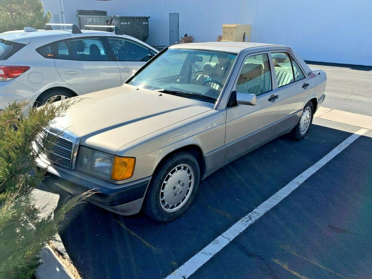 1992 Smoke Silver Mercedes-Benz 190-Series Sedan with Tan interior