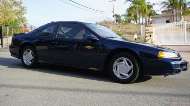 93 ford thunderbird supercharged sc coupe manual 3 8l blue for sale photos technical. Black Bedroom Furniture Sets. Home Design Ideas