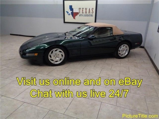 1994 Chevrolet Corvette Coupe Convertible ONLY 37k Miles Leather Texas