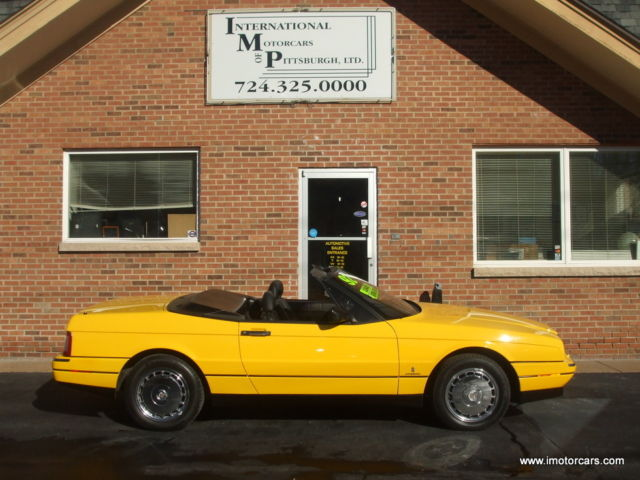 1992 Cadillac Allante 1 0f 3 in Fly Yellow
