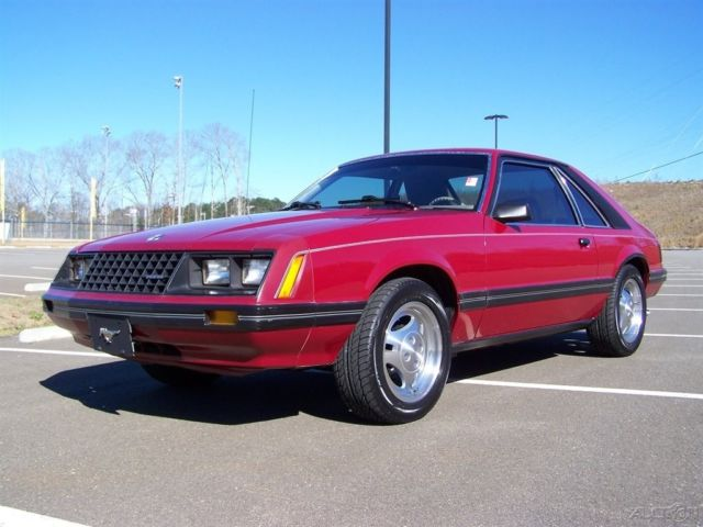 1981 Ford Mustang GL 24K ORG MILES 4-SPEED 2.3L COLD AC NEW TRX SHARP FOX BODY