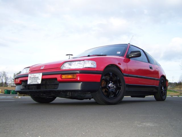 1989 Honda CRX DX Si 5-SPD LOWERD SHARP BIG 80'S POCKET ROCKET