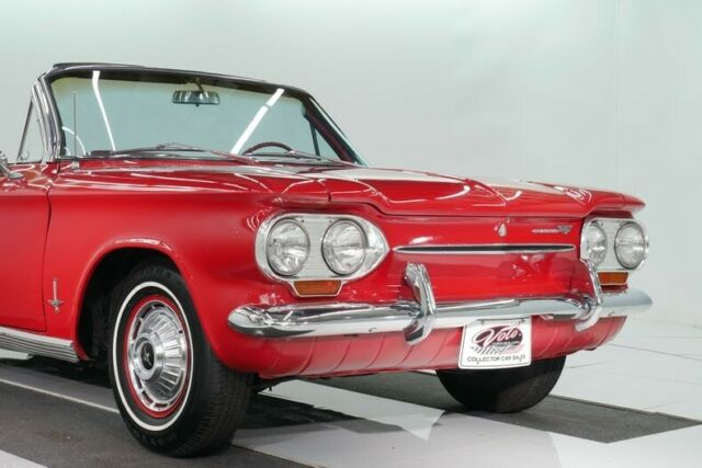 1963 Red Chevrolet Corvair Convertible with Black interior
