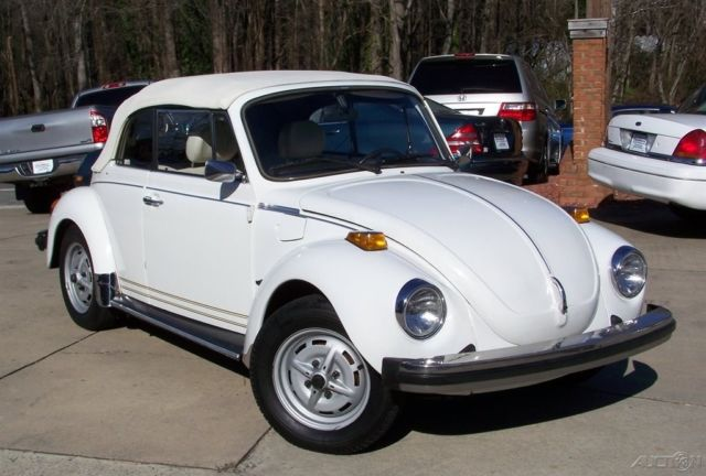 1977 Volkswagen Beetle - Classic 1-OWNER CHAMPAGNE EDITION CONVERTIBLE NICE UN-RESTORED GEM