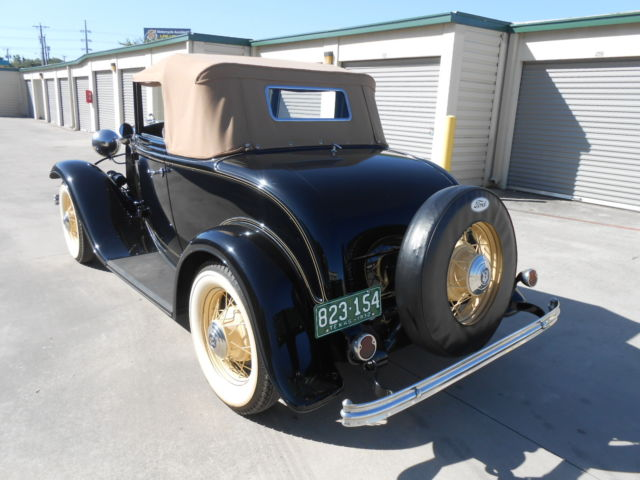 A Refurbished Original 1932 Ford V8 Cabriolet with a Rumble Seat for