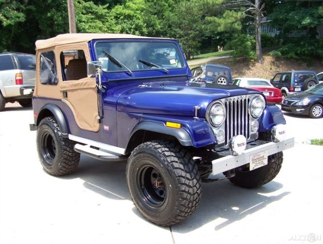 1980 Jeep CJ 4X4 CJ-5 LEVI TRIM PKG 2.5L 4CYL 4-SPD RESTORED DRIVER TRAIL