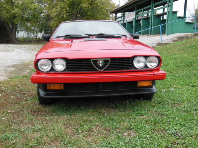 1986 Alfa Romeo GTV 2 Door Coupe