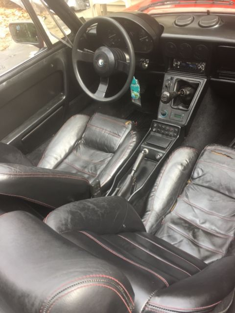 1986 Red Alfa Romeo Spider Convertible with Black interior