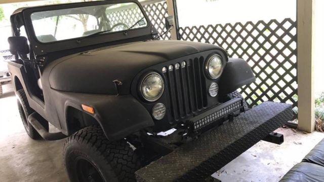 All Black 1977 jeep cj7 Chevy 350 Conversion done right 4wd
