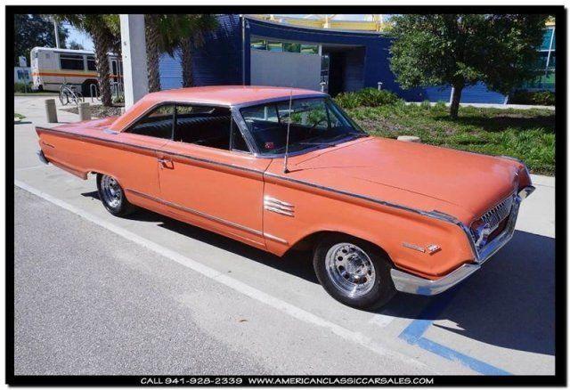 All Original 1964 Mercury Monterey Rare Coral Color No Rust Solid Car In Florida