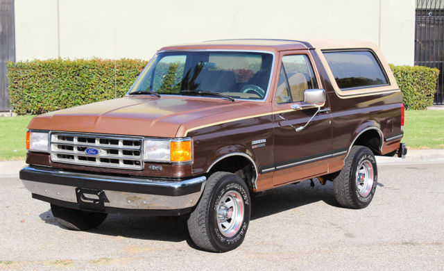 1988 Ford Bronco XLT, One Owner, 100% Rust Free