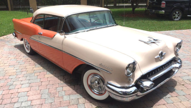 Amazing 1955 olds 98 holiday 2 door hardtop beautifully for 1955 oldsmobile 4 door hardtop