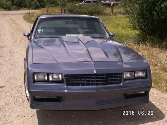 Attention Getting Blue Blue 1984 Monte Carlo Ss Rare Bench Seat For