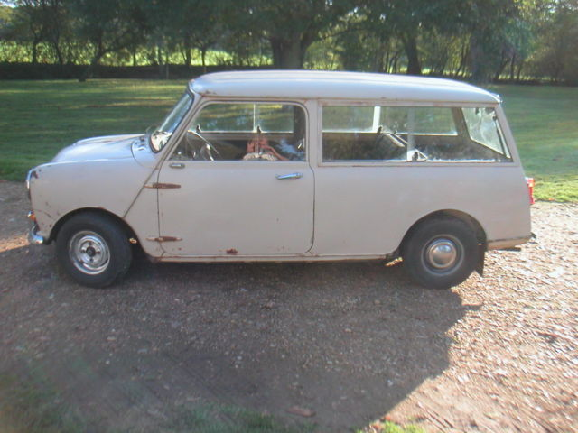 1977 Beige Austin Mini Estate IMA with Black interior