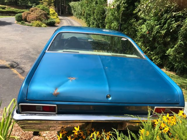 1971 Blue Chevrolet Nova SS Coupe with Black interior
