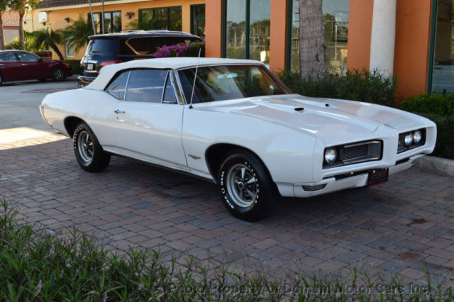 1968 Pontiac GTO Automatic Top! Dual Gate shifter! White on Red!