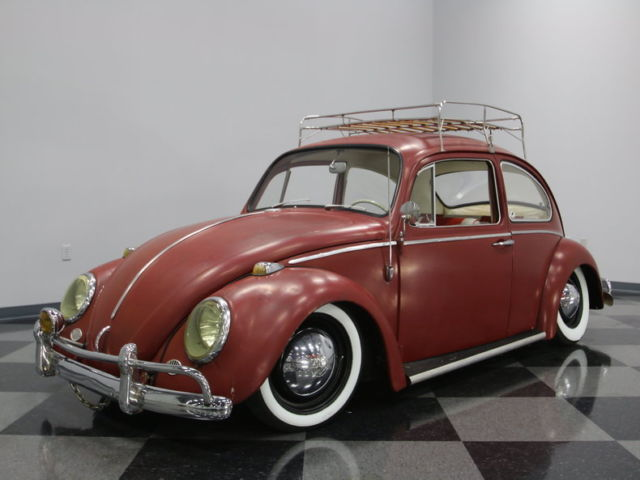 awesome patina style paint job lowered stance smooth running motor cool bug  sale