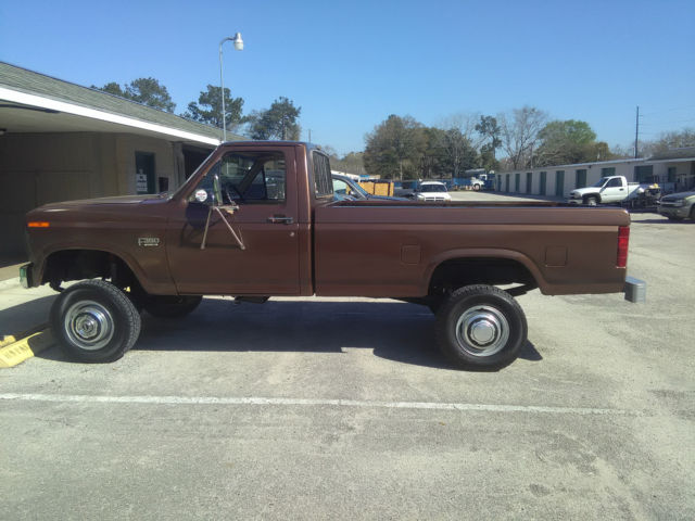 Awesome Red 1983 Ford F 350 6 9 L Sel 4 Wheel Drive Pickup Lifted Truck